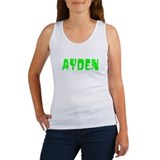 Ayden Faded (Green) Women's Tank Top