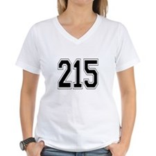 215 Womens V-Neck T-Shirt