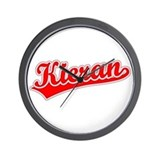 Retro Kieran (Red) Wall Clock