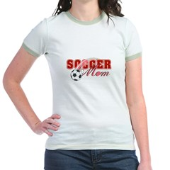 Soccer Mom / Mother's Day Jr. Ringer T-Shirt