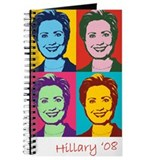 Hillary Clinton Pop Art Journal