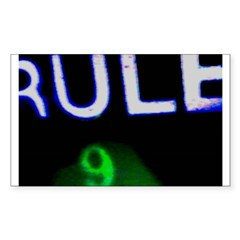Rule 9 nRe:verse Rectangle Sticker