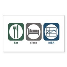 Eat Sleep MBA Rectangle Sticker 50 pk)