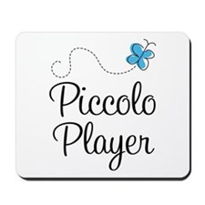 Butterfly Piccolo Player Mousepad