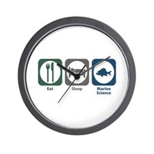 Eat Sleep Marine Science Wall Clock