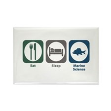 Eat Sleep Marine Science Rectangle Magnet