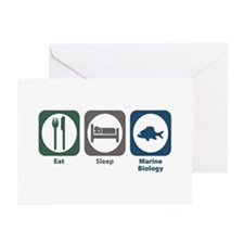 Eat Sleep Marine Biology Greeting Cards (Pk of 20)