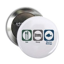 "Eat Sleep Marine Biology 2.25"" Button (10 pac"