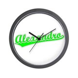 Retro Alexandro (Green) Wall Clock