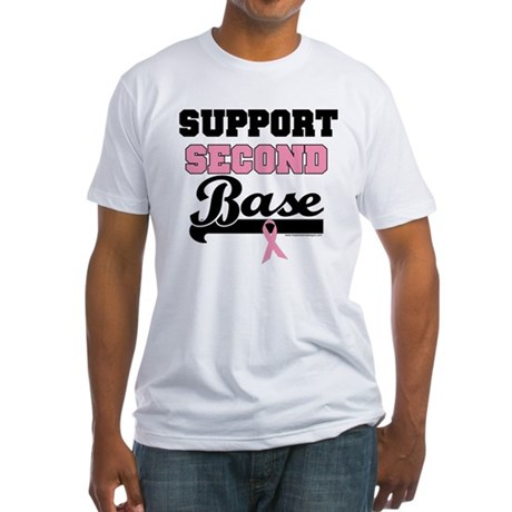 Support 2nd Base (v1) Fitted T-Shirt