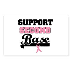 Support 2nd Base (v1) Rectangle Sticker 10 pk)