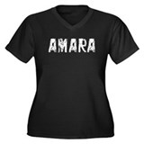 Amara Faded (Silver) Women's Plus Size V-Neck Dark