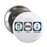 "Eat Sleep Mandolin 2.25"" Button (10 pack)"