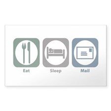 Eat Sleep Mail Rectangle Sticker 10 pk)
