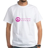 You May Say I'm a Dreamer Pink Peace Sign Shirt