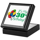 It's My 30th Birthday (Balloons) Keepsake Box