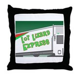 Lot Lizard Trucking Express Throw Pillow