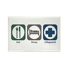 Eat Sleep Lifeguard Rectangle Magnet