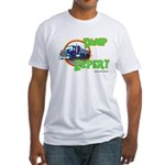 Dump Expert Truck Design Fitted T-Shirt