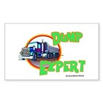 Dump Expert Truck Design Rectangle Sticker