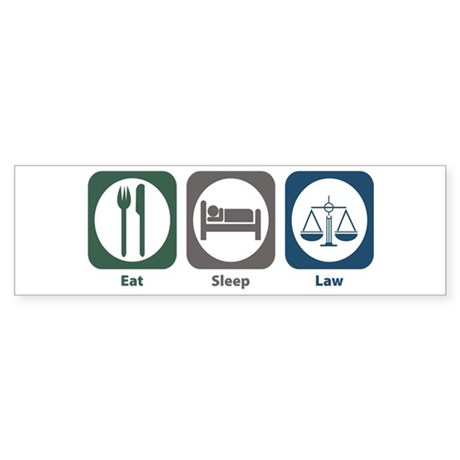 Eat Sleep Law Bumper Sticker (50 pk)