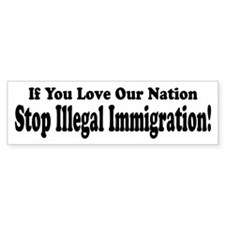 Love Our Nation Bumper Bumper Sticker