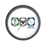 Eat Sleep Landscape Architecture Wall Clock