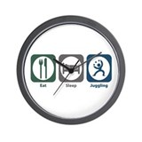 Eat Sleep Juggling Wall Clock