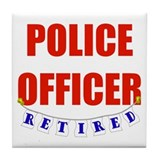 Retired Police Officer Tile Coaster
