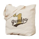 #1 Grandpa Tote Bag