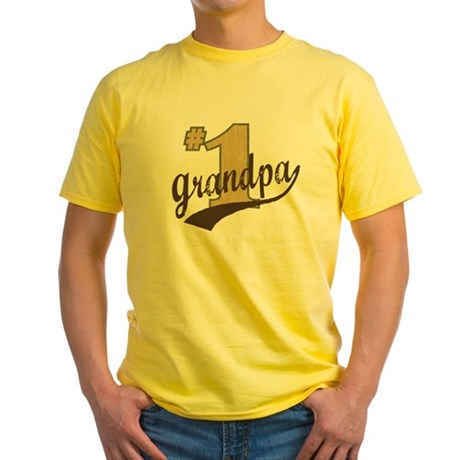 #1 Grandpa Yellow T-Shirt