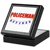 Retired Policeman Keepsake Box