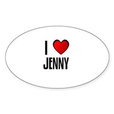 I LOVE JENNY Oval Decal