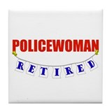 Retired Policewoman Tile Coaster