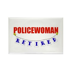 Retired Policewoman Rectangle Magnet (100 pack)