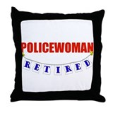 Retired Policewoman Throw Pillow
