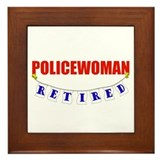 Retired Policewoman Framed Tile