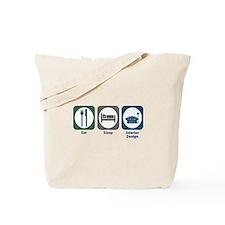 Eat Sleep Interior Design Tote Bag