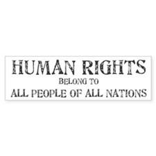 Human Rights Bumper Bumper Sticker