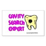 Dental Cavity Search Expert Rectangle Sticker