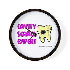 Dental Cavity Search Expert Wall Clock
