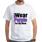 I Wear Purple For My Mom Shirt