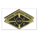 LASD SEB Canine Rectangle Decal