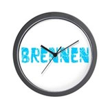 Brennen Faded (Blue) Wall Clock