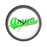 Retro Amya (Green) Wall Clock