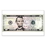 $5. a Gallon Gas Rectangle Sticker 50 pk)