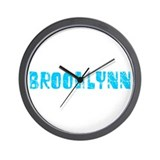 Brooklynn Faded (Blue) Wall Clock