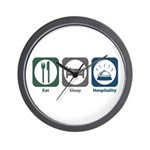 Eat Sleep Hospitality Wall Clock