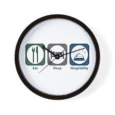 Eat Sleep Hospitality Wall Clock