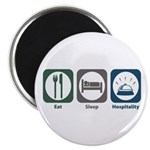 "Eat Sleep Hospitality 2.25"" Magnet (10 pack)"